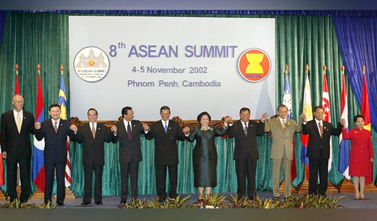 Press Statement by the Chairman of the Eight ASEAN Summit, the Sixth ASEAN+3 and the ASEAN-China Summit, 4 November 2002, Phnom Penh