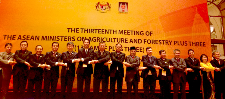 Joint Press Statement of the 13<sup>th</sup> ASEAN Ministers of Agriculture and Forestry and the Ministers of Agriculture of the Peoples Republic of China, Japan and the Republic of Korea (AMAF Plus Three), 23 September 2013, Kuala Lumpur